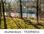 morning sunlight and tree...   Shutterstock . vector #752096011