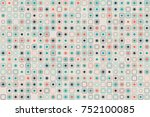 beautiful geometric pattern... | Shutterstock .eps vector #752100085