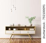 modern interior of living room... | Shutterstock . vector #752100091