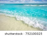caribbean turquoise beach in... | Shutterstock . vector #752100325