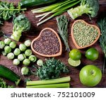 mixed vegetables  legumes for...   Shutterstock . vector #752101009