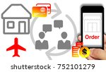 smartphone show order and... | Shutterstock . vector #752101279