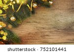 stylish rustic christmas... | Shutterstock . vector #752101441