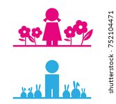gender symbol  a girl with... | Shutterstock .eps vector #752104471