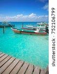 isla mujeres island caribbean... | Shutterstock . vector #752106799