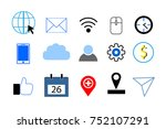 business icons set | Shutterstock .eps vector #752107291
