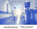 ecg and ultrasonic monitoring... | Shutterstock . vector #752112547