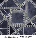 old film strip with some spots | Shutterstock . vector #75211387