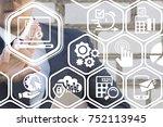 e invoicing financial... | Shutterstock . vector #752113945