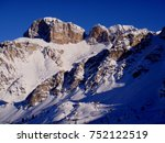 panoramic view of the dolomites ... | Shutterstock . vector #752122519