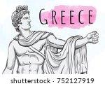 god apollon. the mythological... | Shutterstock .eps vector #752127919