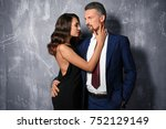 attractive couple in formal... | Shutterstock . vector #752129149