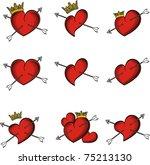 Heart Tattoo Sticker Set In...
