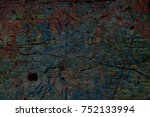 color grunge wall background.... | Shutterstock . vector #752133994