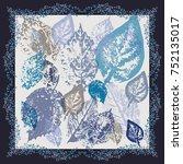 autumn square arrangement from... | Shutterstock .eps vector #752135017