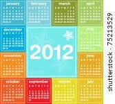 2012 calendar in seasonal