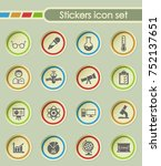 science round sticker icons for ... | Shutterstock .eps vector #752137651