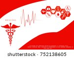 2d illustration health care and ... | Shutterstock . vector #752138605