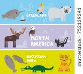cute animals set crocodile...   Shutterstock . vector #752139241