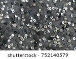 sequins pattern metallic... | Shutterstock . vector #752140579