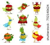 vector illustration set of... | Shutterstock .eps vector #752140624