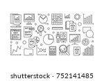 financial audit vector minimal... | Shutterstock .eps vector #752141485