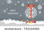 christmas illustration of a... | Shutterstock .eps vector #752144581