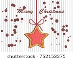 gingerbread decorated colored... | Shutterstock .eps vector #752153275