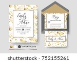 wedding invite  invitation rsvp ... | Shutterstock .eps vector #752155261