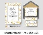 wedding invite  invitation rsvp ...   Shutterstock .eps vector #752155261