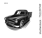 old farmer pickup truck vector... | Shutterstock .eps vector #752159749