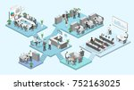 isometric flat 3d abstract... | Shutterstock . vector #752163025