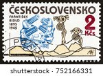 czechoslovakia   circa 1985  a... | Shutterstock . vector #752166331