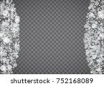 blizzard snowflake on... | Shutterstock .eps vector #752168089