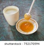 milk and honey  | Shutterstock . vector #752170594