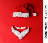 santa claus minimal concept....   Shutterstock . vector #752171791