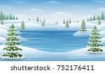 Vector Illustration Of Winter...