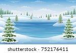 vector illustration of winter... | Shutterstock .eps vector #752176411