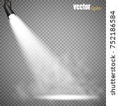 vector spotlights. scene. light ... | Shutterstock .eps vector #752186584