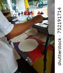 seller making kebab  turkish...