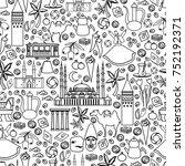seamless pattern  cartoon... | Shutterstock .eps vector #752192371