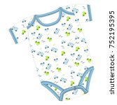 clothes for newborn boy or girl | Shutterstock .eps vector #752195395