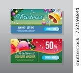christmas web banner bell | Shutterstock .eps vector #752196841