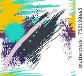 splash brush strokes seamless... | Shutterstock .eps vector #752198665