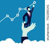 business man set target or goal ... | Shutterstock .eps vector #752200141