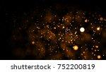 gold abstract bokeh background. ...   Shutterstock . vector #752200819