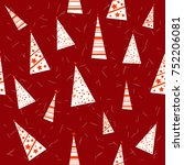 seamless pattern with christmas ... | Shutterstock .eps vector #752206081
