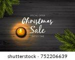 christmas sale design....   Shutterstock .eps vector #752206639