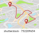 vector abstract city map with... | Shutterstock .eps vector #752209654