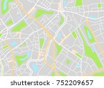 city map. vector illustration | Shutterstock .eps vector #752209657